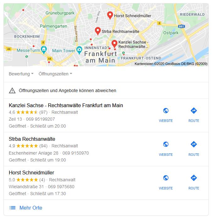 Mit Google My Business in der lokalen Suche erscheinen